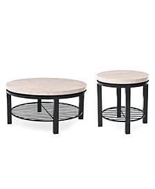 Tempo Round 2-Pc. Table Set (Coffee & End Table)