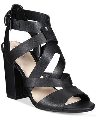 Bar III Mae City Block-Heel Sandals, Created for Macy's