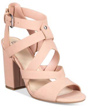 Bar Iii Mae City Block-Heel Sandals, Created for Macy