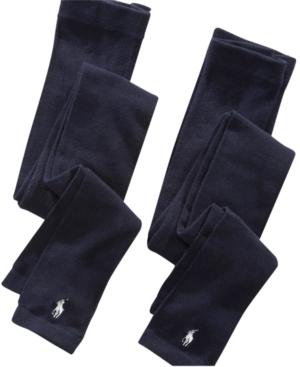 Polo Ralph Lauren Footless Tights 2 Pack Little Girls  Big Girls