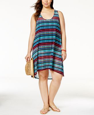 Profile by Gottex Plus Size Cozumel Printed Cover-Up