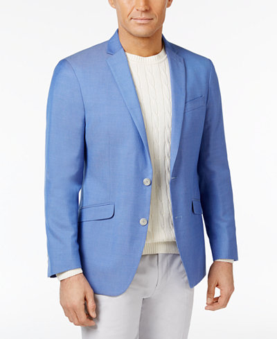 Kenneth Cole Reaction Men S Slim Fit Light Blue Sport Coat