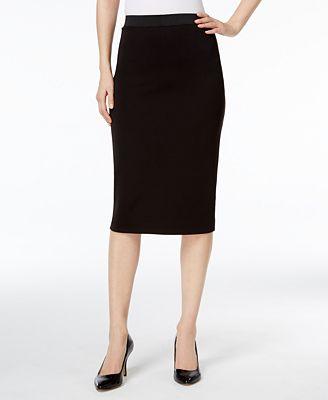 Alfani Below-Knee Pencil Skirt, Created for Macy's ...