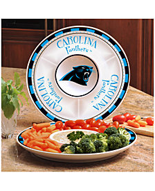 Memory Company Carolina Panthers Ceramic Round Chip & Dip Plate