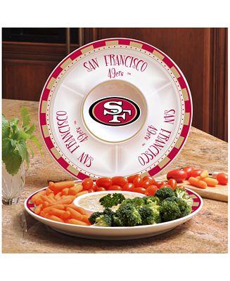 Memory Company San Francisco 49ers Ceramic Round Chip & Dip Plate