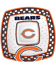 Memory Company Chicago Bears Gameday Ceramic Chip & Dip Plate