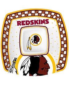Memory Company Washington Redskins Gameday Ceramic Chip & Dip Plate
