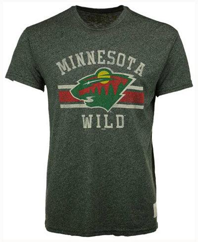 Retro Brand Men's Minnesota Wild Stripe Mock Twist T-Shirt