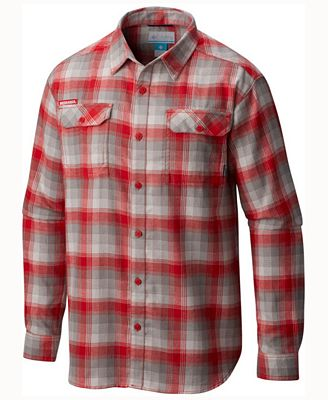 Columbia Men's Nebraska Cornhuskers Flare Gun Long Sleeve Flannel ...