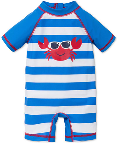 Little Me 1-Pc. Striped Crab Rashguard Suit, Baby Boys (0-24 months)