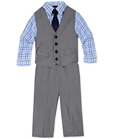Nautica 4-Pc. Sharkskin Vest Set, Baby Boys