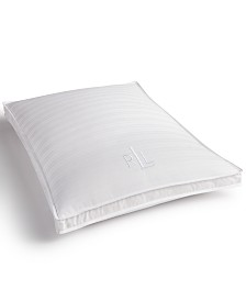 Lauren Ralph Lauren Trilogy Extra-Firm Gusset Standard Pillow, Down and Feather Triple Chamber