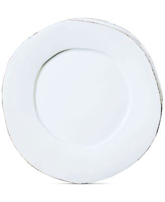 VIETRI Lastra White Collection American Dinner Plate