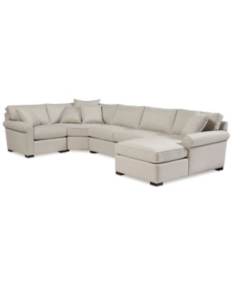 Astra 4-Pc. Sectional with Chaise Created for Macyu0027s - Furniture - Macyu0027s  sc 1 st  Macyu0027s : macys chaise - Sectionals, Sofas & Couches