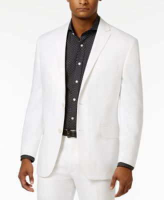 CLOSEOUT! Men's Classic-Fit White Linen Jacket