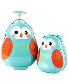 Heys Travel Tots Owl 2PC Luggage & Backpack Set