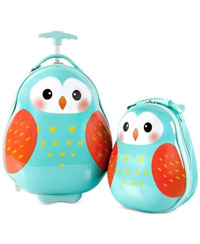 Heys Travel Tots Owl 2PC Luggage & Backpack Set