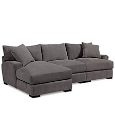 Rhyder 3-Pc. Fabric Sectional Sofa with Chaise, Created for Macy's