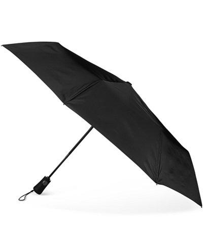 Totes Blue Line Neverwet Auto-Open Umbrella