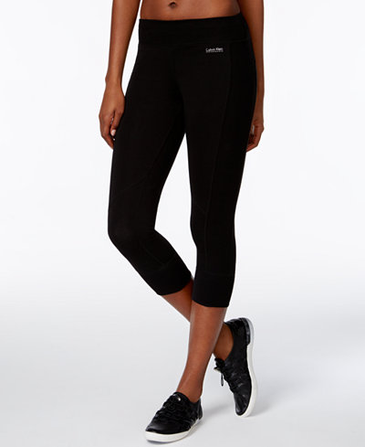 calvin klein performance cropped leggings pants women macy 39 s. Black Bedroom Furniture Sets. Home Design Ideas
