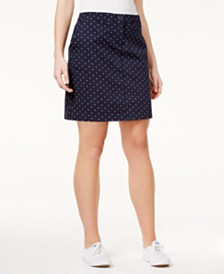 Karen Scott Petite Polka Dot Skort, Created for Macy's