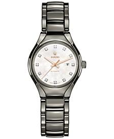 Women's Swiss Automatic True Diamond (1/10 ct. t.w.) Plasma Ceramic Bracelet Watch 30mm R27243902