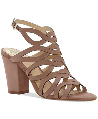 Vince Camuto Norla Strappy Block-Heel Sandals - Sandals - Shoes ...