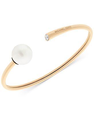 michael kors pav 233 imitation pearl cuff bracelet jewelry