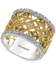 Duo by EFFY® Diamond Two-Tone Ring (3/4 ct. t.w.) in 14k Gold and White Gold