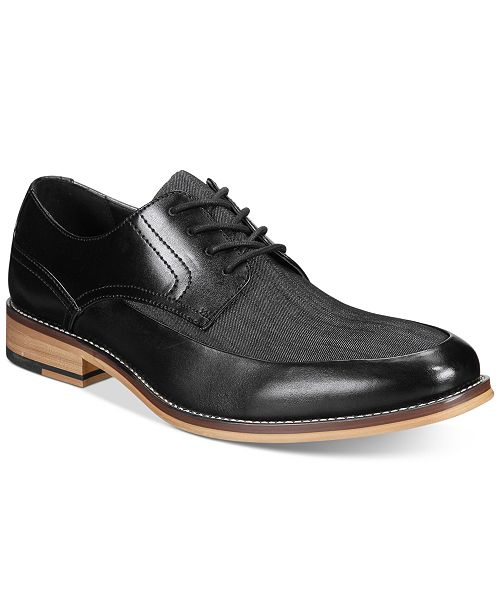 Bar III Men's Drew Mixed Media Oxfords, Created for Macy's