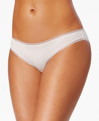 Litewear Low-Rise Mesh-Trim Bikini DK5002