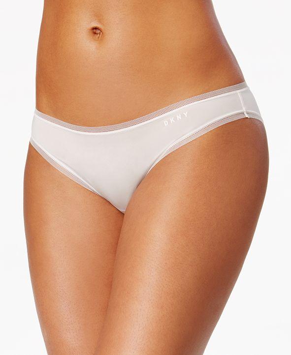 DKNY Litewear Low-Rise Mesh-Trim Bikini Underwear DK5002