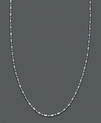 Image of Giani Bernini Necklace, Sterling Silver Dot Dash Chain 20""