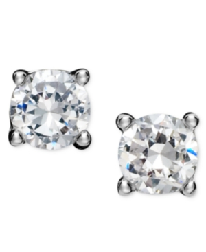 Giani Bernini Sterling Silver Earrings, Round Cubic Zirconia Studs (1/2 ct. t.w.)