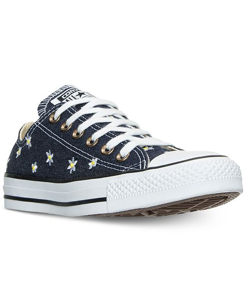 15dda03a2f8caa ... Converse Women s Chuck Taylor Ox Daisy Print Casual Sneakers from  Finish ...