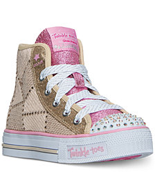 Skechers Little Girls' Twinkle Toes: Shuffles - Dazzle Dancer High Top Casual Sneakers from Finish Line