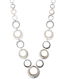 Nine West Tri-Tone Circle Collar Necklace