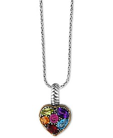 EFFY® Balissima Multi-Gemstone Pendant Necklace (2 ct. t.w.) in Sterling Silver and 18k Gold