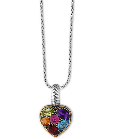 Effy balissima multi gemstone pendant necklace 2 ct tw in effy balissima multi gemstone pendant necklace 2 ct tw in sterling aloadofball Image collections