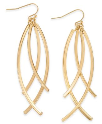 Image of INC International Concepts Multi-Bar Drop Earrings, Only at Macy's