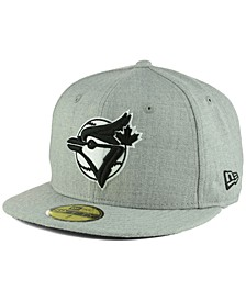 Toronto Blue Jays Heather Black White 59FIFTY Cap