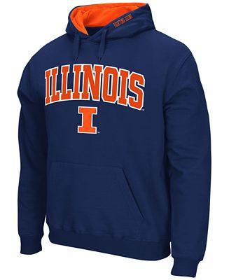 Colosseum Men's Illinois Fighting Illini Arch Logo Hoodie