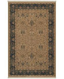 "Karastan Area Rug, Original Karastan 728 Persian Garden Blue/Beige 4'3"" x 6'"