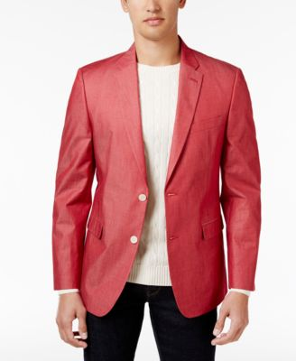 Tommy Hilfiger Men's Slim-Fit Stretch Performance Red/White ...