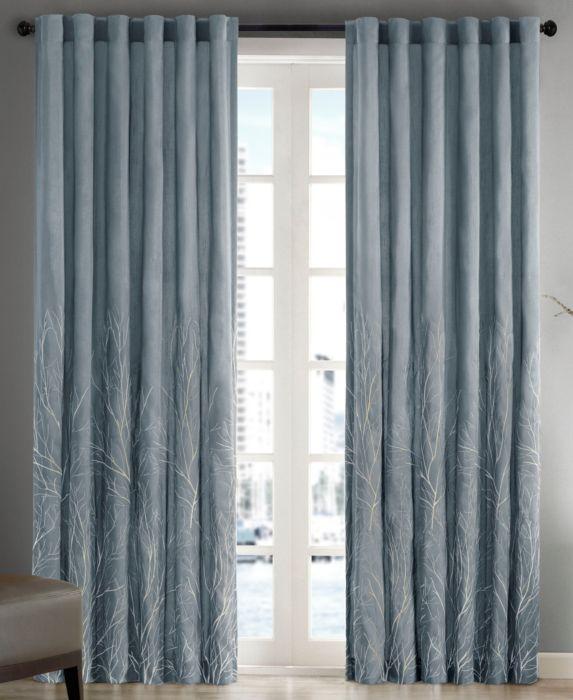 "108""x50"" Aden Curtain Panel Blue"