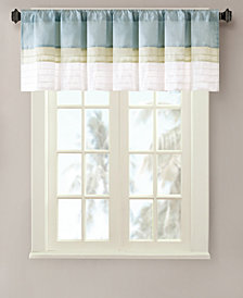 "Madison Park Carter 50"" x 18"" Colorblocked Pintuck Valance"