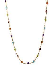 EFFY® Mosaic Collection Multi-Gemstone Link Collar Necklace (9 ct. t.w.) in 14k Gold