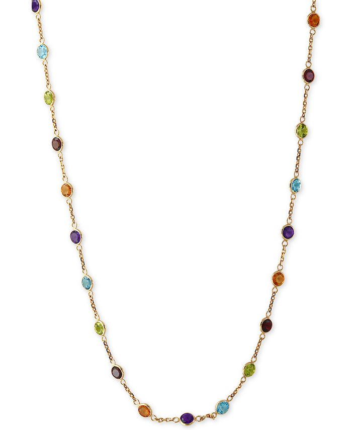 EFFY Collection - Multi-Gemstone Link Collar Necklace (9 ct. t.w.) in 14k Gold