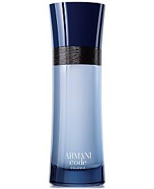 Giorgio Armani Armani Code Colonia Eau de Toilette Spray, 2.5 oz.