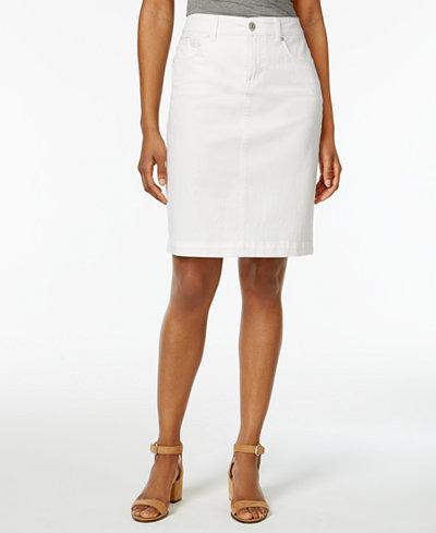 Style & Co Denim Skirt, Created for Macy's - Skirts - Women - Macy's